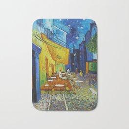 """Vincent van Gogh """"Cafe Terrace, Place du Forum, Arles"""" Bath Mat"""