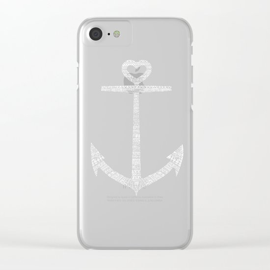 Love is the anchor Clear iPhone Case