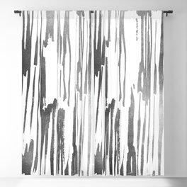 Modern Stripes Gray Blackout Curtain