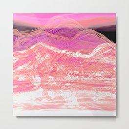 Mountain Mood in Pink Metal Print
