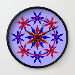 Shuriken Lotus Flower V2 Wall Clock