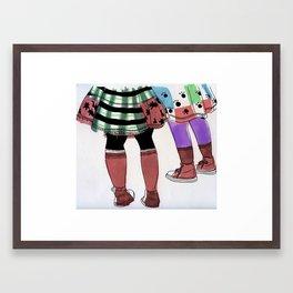Colourful Legs Framed Art Print