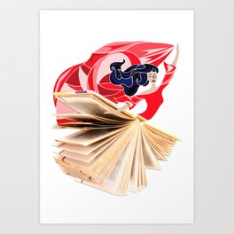 Book Dress Art Print