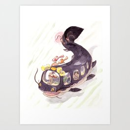 Catfishbus Art Print