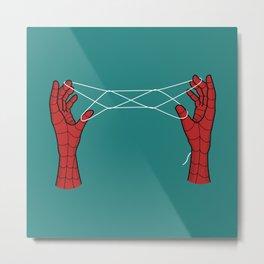 spidey hand trick Metal Print