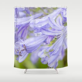Flowers in the rain Shower Curtain