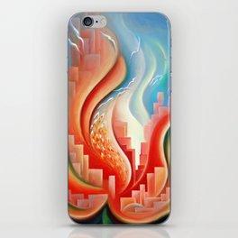 Hibiscus City iPhone Skin