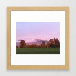 Mountain Side Framed Art Print
