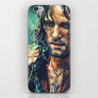 alicexz iPhone & iPod Skins featuring Elessar by Alice X. Zhang