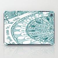 sia iPad Cases featuring Sia Bella Come Te by Jen Fleming