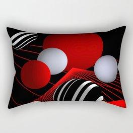 crazy lines and balls -11- Rectangular Pillow