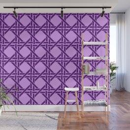 Rectangles pattern design violet - violet light Wall Mural