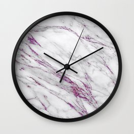 Gray and Ultra Violet Marble Agate Wall Clock