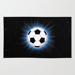 Spacey Soccer Ball Rug