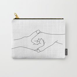 Hands line drawing illustration - Iris Carry-All Pouch