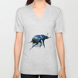 Low Poly Beetle Unisex V-Neck