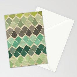 Retro Geometric Pattern Stationery Cards