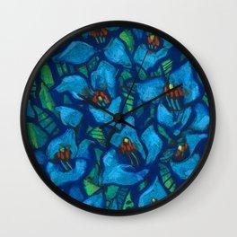 The Blue Puya Wall Clock