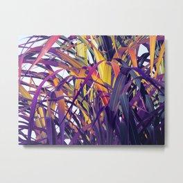 Bight Colorful Bamboo Metal Print