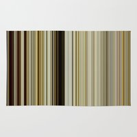 stripe Area & Throw Rugs featuring Stripe by Fine2art
