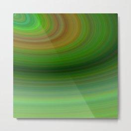 Green background elliptical Metal Print