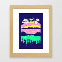 Happy Lake Framed Art Print