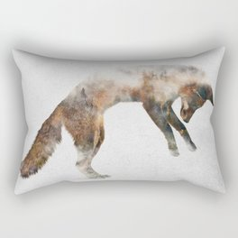 Jumping Fox Rectangular Pillow