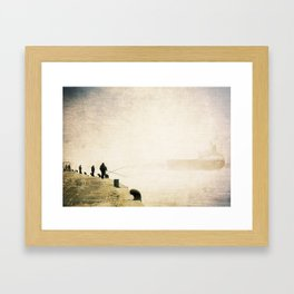 Pescadores del Parana - Grunge Texture Vintage Edition Framed Art Print