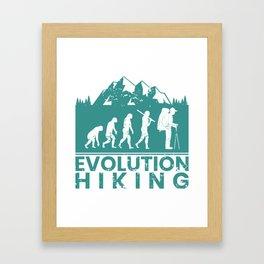 Hiking Evolution Framed Art Print