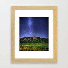 Milky Way in Boulder, Colorado Framed Art Print