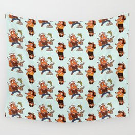 Popeye And Olive Fox Wall Tapestry