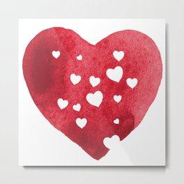 Red Hearts Metal Print