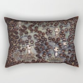 Soot sprites (Susuwatari) Rectangular Pillow