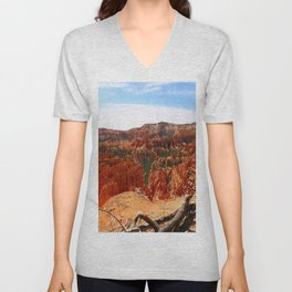 Sunset Point At  Bryce Canyon Unisex V-Neck