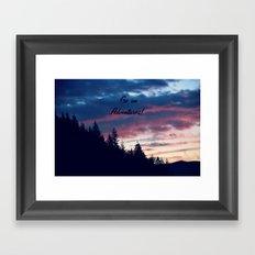 Go On Adventures! Framed Art Print