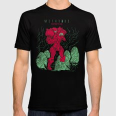 Metroids Mens Fitted Tee SMALL Black