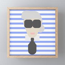 KARL FASHION ICON Framed Mini Art Print