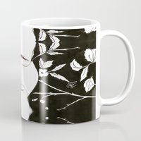 emma stone Mugs featuring Emma  by Yaz Raja Designs