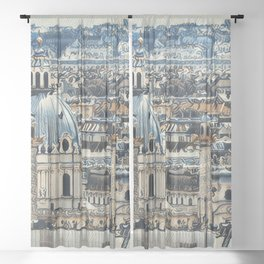 Painted Vienna 2 Sheer Curtain