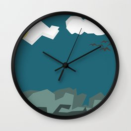 Night with Blue sky Wall Clock