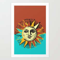 Hot Sun Art Print