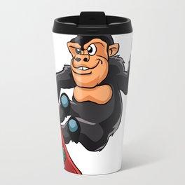 Gorilla skater cartoon Travel Mug