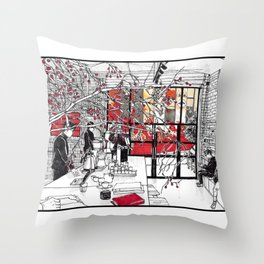 A Coffee Throw Pillow