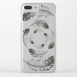 Feather Whirlpool Clear iPhone Case