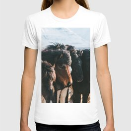 Horses in Iceland - Wildlife animals T-shirt