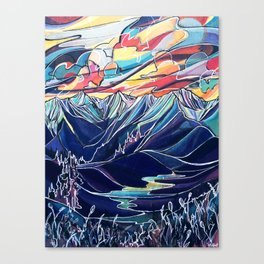Silvercup Ridge, BC Canvas Print