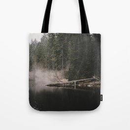 In the Fog - Landscape Photography Tote Bag