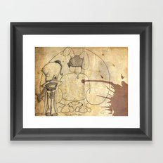 Mad Hatter and March Hare Framed Art Print