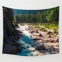 river Wall Tapestries featuring River by Tomas Hudolin