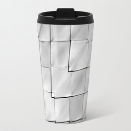 Silver Geometric Pattern Travel Mug